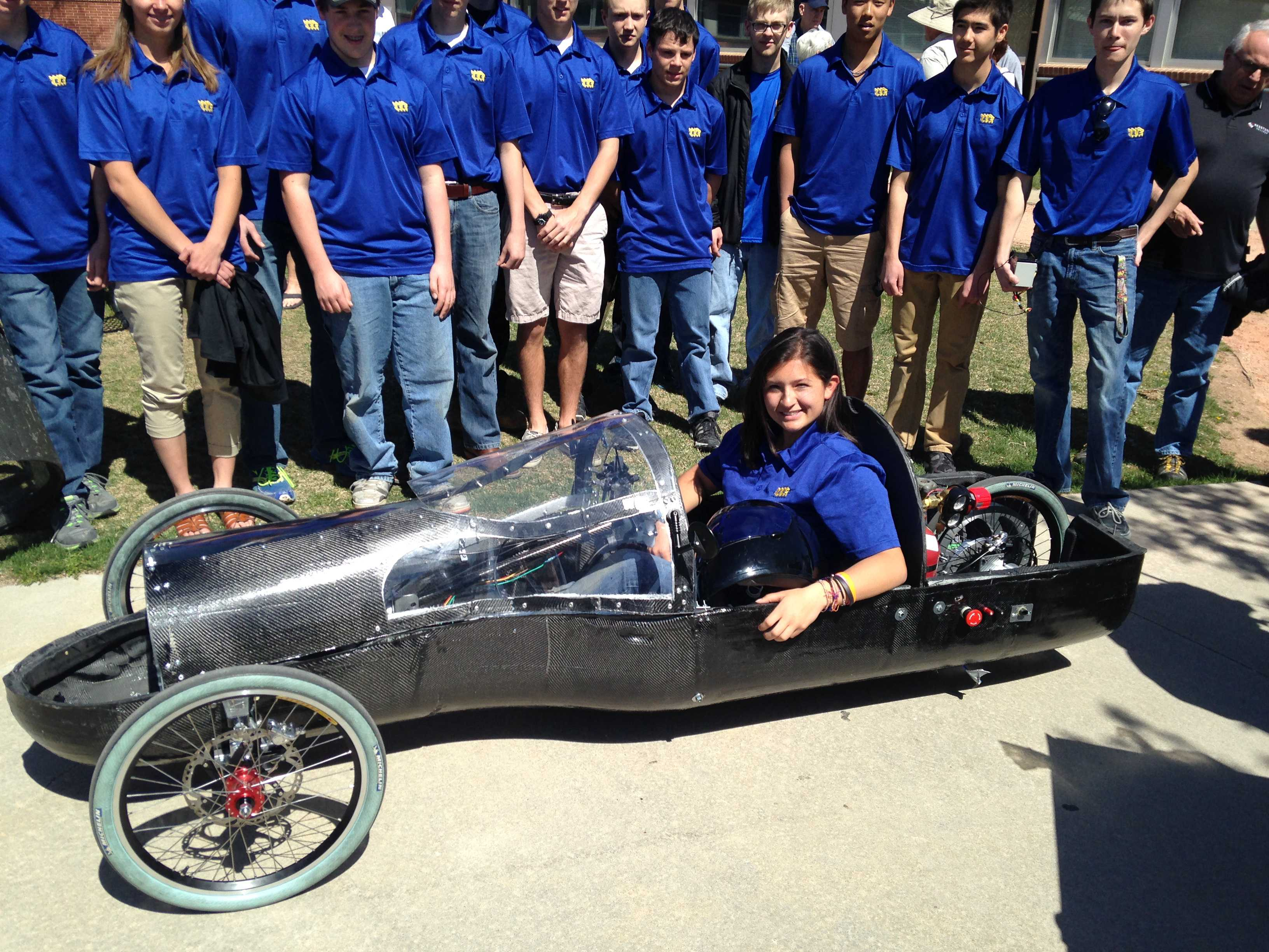 The original STEM team and their 2014 1st place hydrogen fuel cell car. Haystack file photo