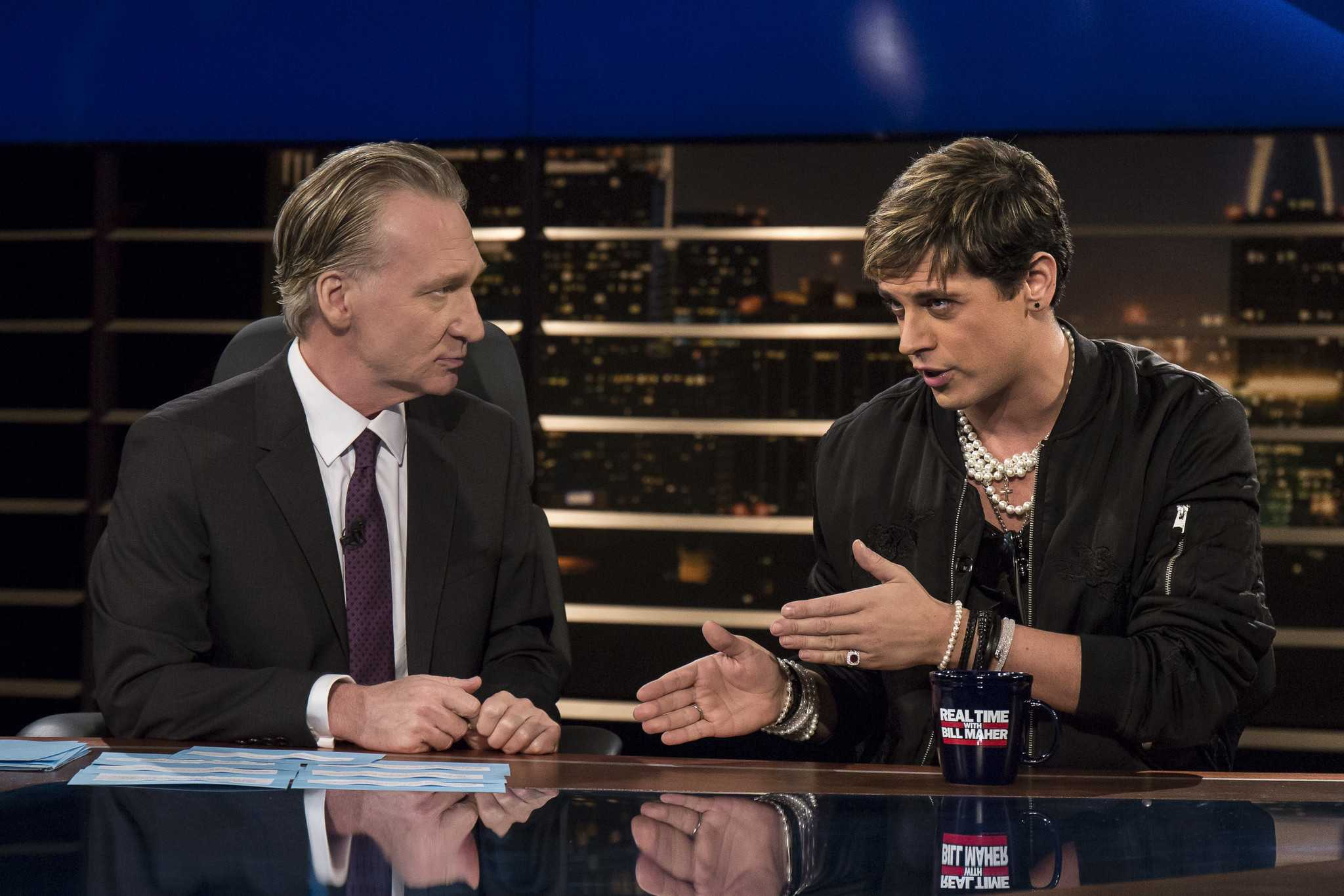 Milo Yiannopoulos on Real Time With Bill Maher Courtesy of Janet Van Ham/HBO
