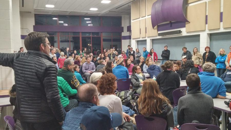 Democrats gathered for the caucus at North High School  on Super Tuesday.