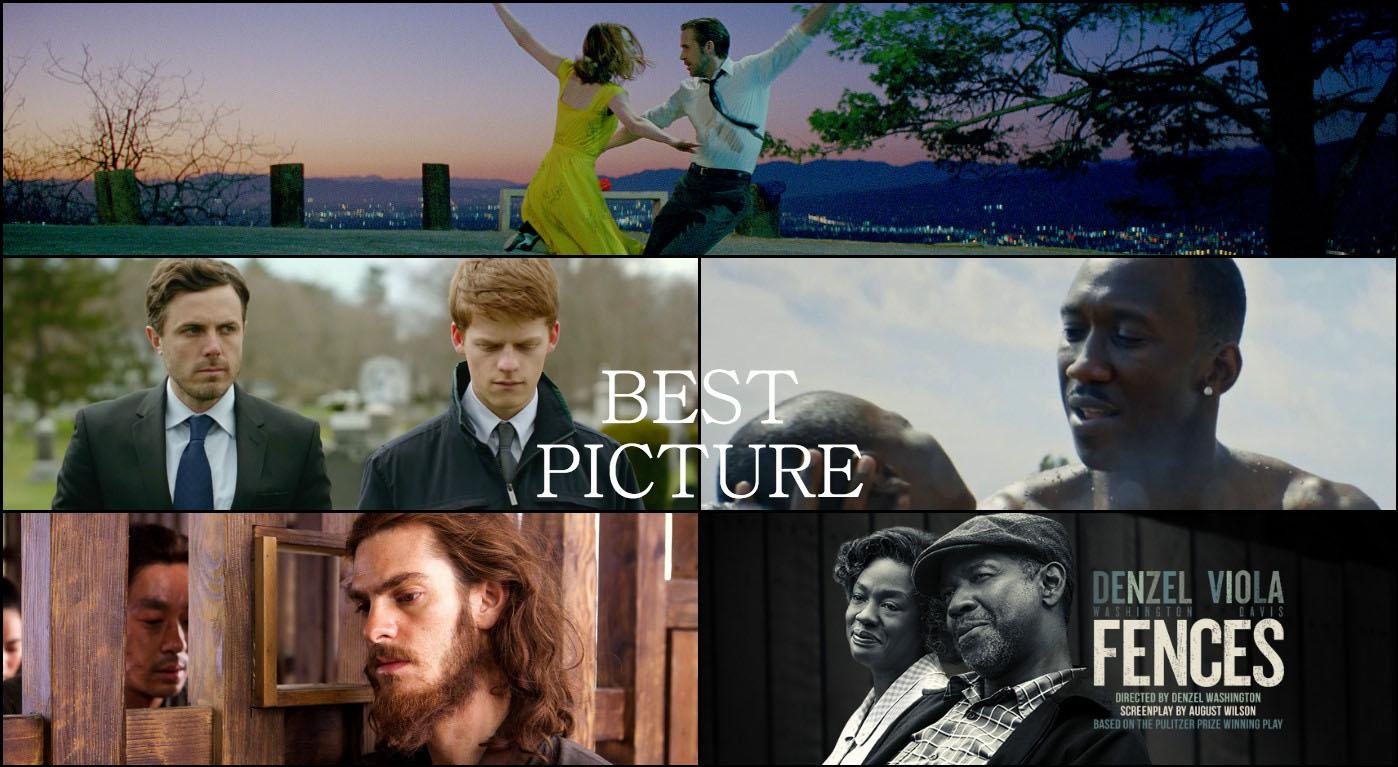 Five of the nine Best Picture nominees courtesy of awardswatch.com