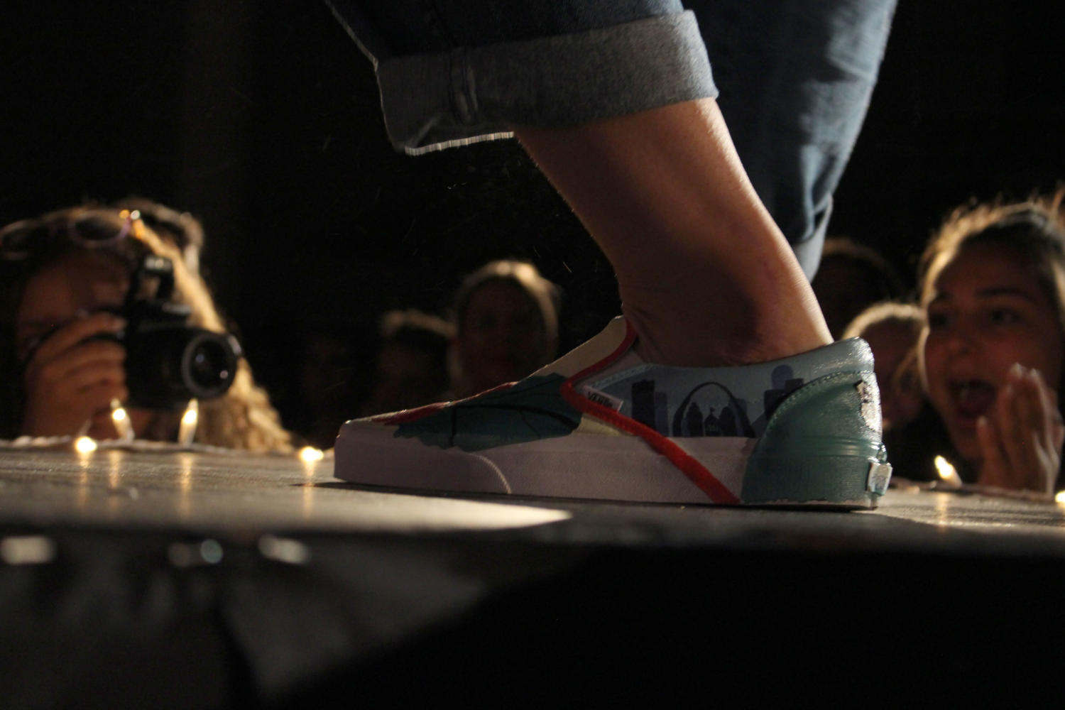 Student-designed shoes strut down the runway at the tenth and last Fresh 23 on Saturday May 6. by Coleman Erickson