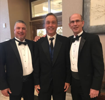Principal Griff Wirth and Assistant Principals Ken Trager and Nick DeSimone pose at this year's prom.