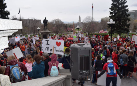 Teachers Paint State Capitol Red