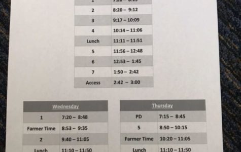 New School Schedule