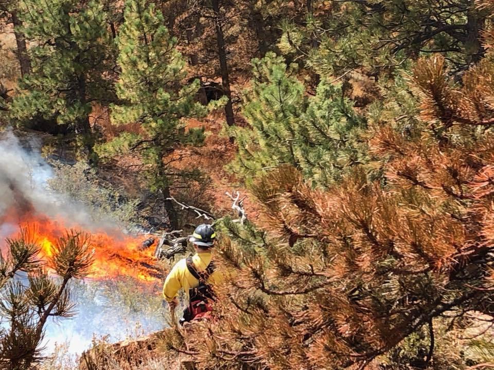 Firefighters battling Horsetooth fire near Fort Collins