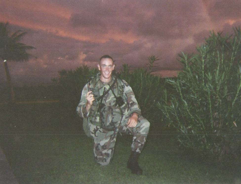 Timothy Slater in uniform.