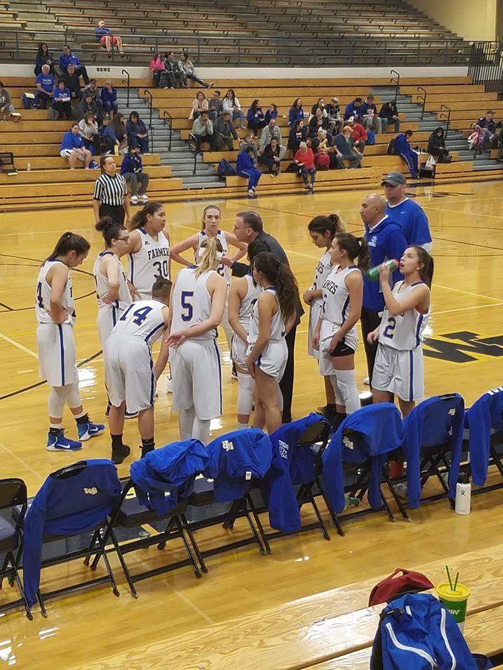 Wheat Ridge timeout huddle up.