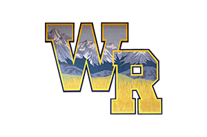 Wheat Ridge High School logo with mountains