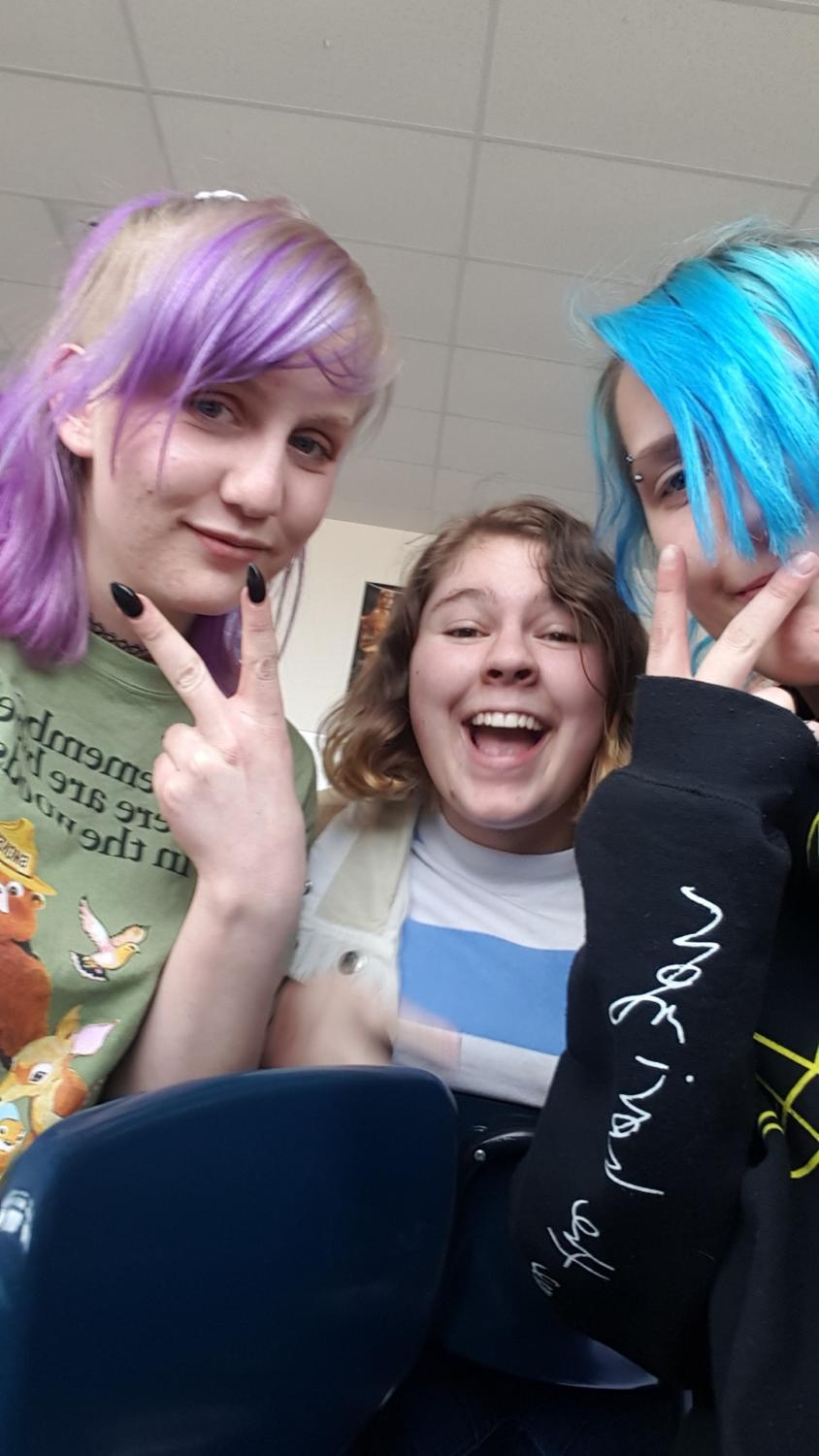 Some dyed haired teens trying to be cool.