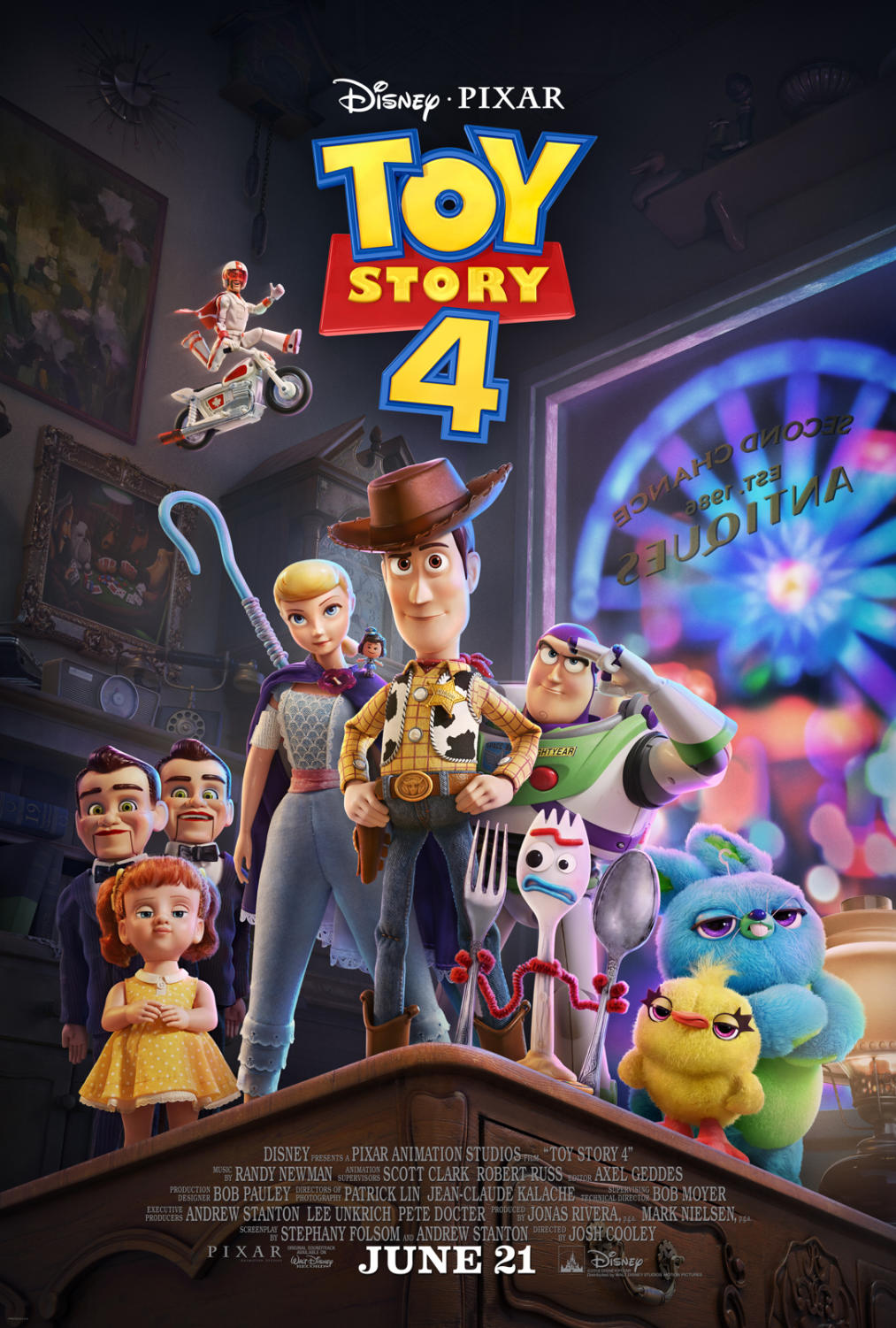 Toy Story 4 movie poster.