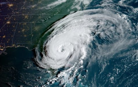 Hurricane Dorian's outer bands causing as the storm moves outward.