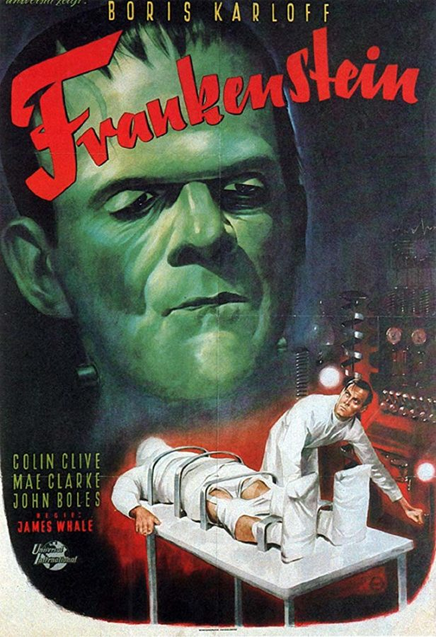 Frankenstein film poster.