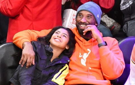 Kobe with his daughter Gianna last public appearance at Lakers game.