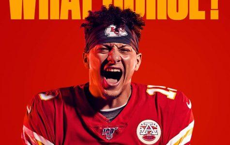 Mahomes's Madden NFL 20 photo shoot