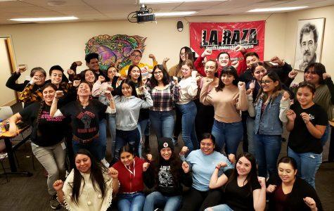 La Raza students stand together in pride.