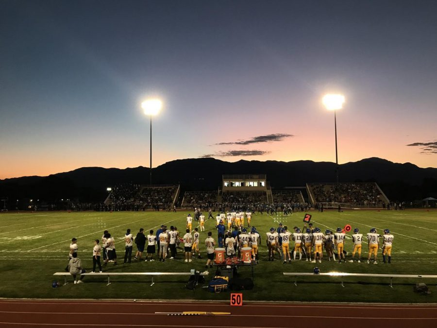 Sunset over Jeffco Stadium on the Wheat Ridge Side Line