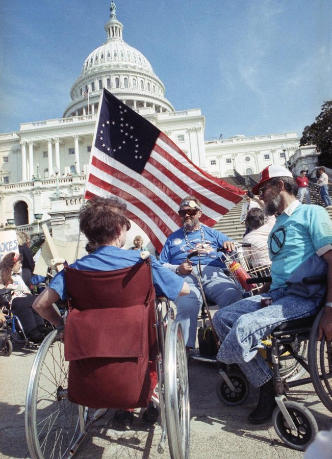 Photograph of people fighting for disability rights